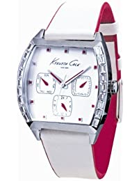 Kenneth Cole New York Women's KC2498 Sport White Leather Strap Watch