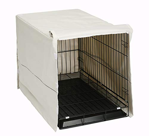 Pethiy Abdeckung für Hundekäfig, passend für die meisten 91,4 cm Hundekäfig. Einfach anzubringen, abzunehmen und anzupassen - nur Abdeckung, Large(36in), beige -