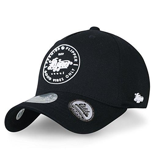 bildet im Logo Solid Farbe Baseball Cap Flex idealer Passform Baumwolle Trucker Cap Hut , Black (Flapper Männer)