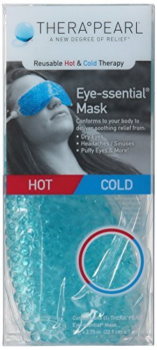 TheraPearl Eye Mask, Eye-ssential Mask with Flexible Gel Beads for Hot Cold Therapy, Best Spa Eye Wrap for Puffy Eyes, Non Toxic Compress for Swollen Eyes, Relaxation, Hot Cold Pack by THERAPEARL