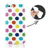 FINOO ® | Samsung Galaxy S3 Handyhülle TPU Bumper Case Weiches Transparentes Silikon Schutzhülle Etui Cover Handyschale Backcover Slimcase Rundumschutz Tasche Ultra Slim Dünn Soft Punkte Weiß/Bunt