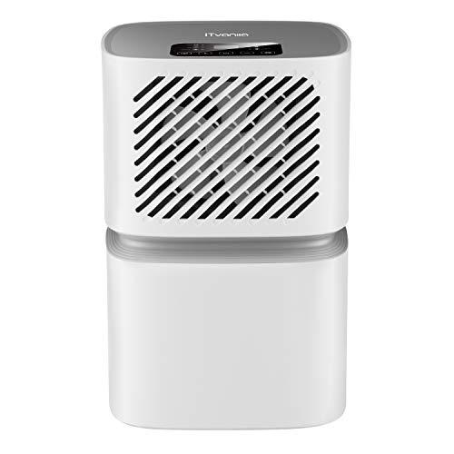 iTvanila Luftentfeuchter,Bautrockner 12L in 24H.WI-FI WLAN Technologie,LED Kontroll Panel,Luftentfeuchter für die Kondensation,Feuchtigkeit,Schimmel mit kontinuierlicher Entfeuchtung
