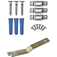 1paquetes de sistema de Kit de seguridad ganchos para colgar cuadros/perchas con llave. Hardware de seguridad antirrobo para bloqueo enmarcado polímero de fotos a la pared. Para madera y marcos de fotos