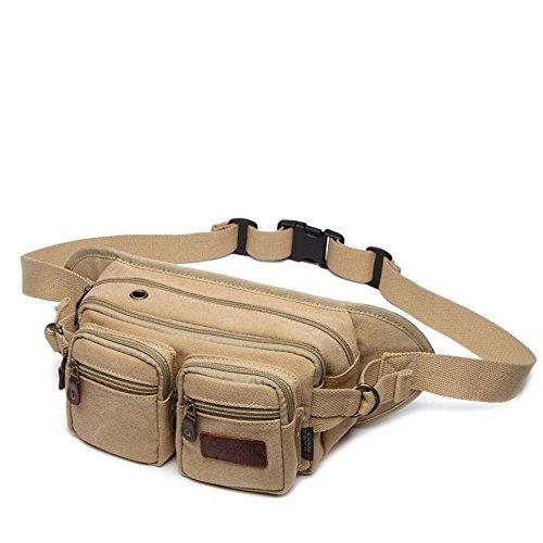 BUSL Escursione Fanny Pack di telefono borsa sportiva tasche tela utenti multifunzionali registratore di cassa degli uomini della signora tasche esterne in sella kit alpinismo . deep khaki light khaki