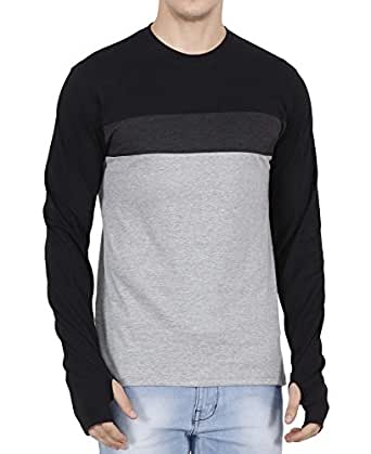 fanideaz Men's Cotton T-Shirt (FFFS0002B_M, Black, Medium)