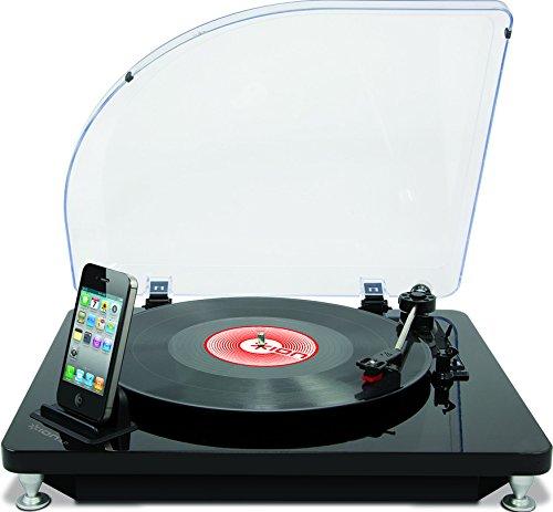 Ion iLP Plattenspieler (USB) mit integriertem Dock für Apple iPad/iPhone schwarz
