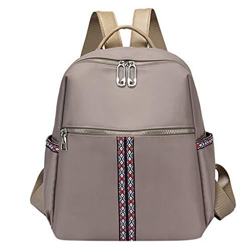 häNgetasche Damen Mode Tasche Große Kapazität Computer Tasche Student Rucksack Umhängetasche Grau One Size ()