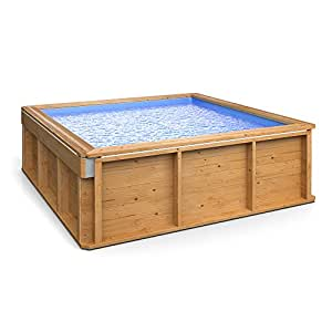 Luxus holz kinder mini pool planschbecken familien for Garten pool 6m