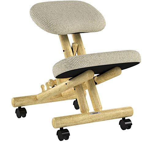cinius Professional kneeling ergonomic chair without back, in several colours