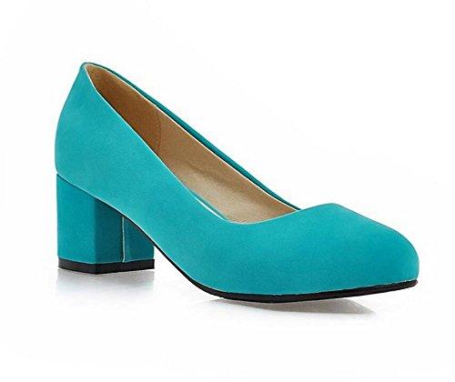 DamenschuheHohe Absätze mit runder Zehe flachen Mund Gericht Schuhe einfache Arbeit lässig Frühling und Sommer Schuhe , green , (Glitter Green Schuhe Erwachsene Flache)