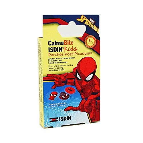 ISDIN CalmaBite Para Niños, Parches Post-Picaduras (Spider-man) - 30 Unidades