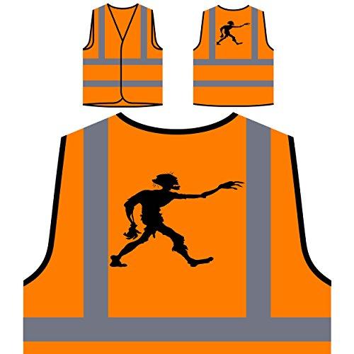 Happy Halloween Zombie LUSTIGE NEUHEIT Personalisierte High Visibility Orange Sicherheitsjacke Weste j94vo