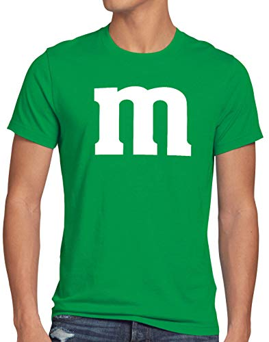 Kostüm Paar Billig - style3 m Herren T-Shirt für Fasching und Karneval Gruppen-Kostüm Paar-Verkleidung JGA Party, Größe:L, Farbe:Grün