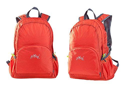 aonijie impermeabile in nylon, pieghevole e portatile zaino scuola borse da viaggio campeggio zaino da escursionismo, Army Green Orange