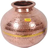 SHIV SHAKTI ARTS Indian Traditional Vintage Ayurvedic Copper Matka Water Pot (20 L)