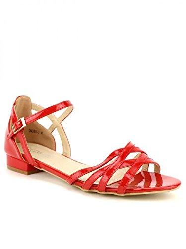 Cendriyon, Sandale vernie rouge LIO Chaussures Femme Rouge