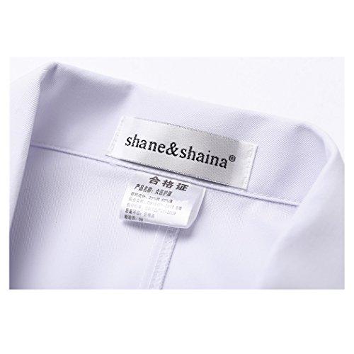 Lange abschnitt langärmelige weiß arbeit kittel ärzte krankenschwestern bekleidung arbeitskleidung (damen, S) - 2