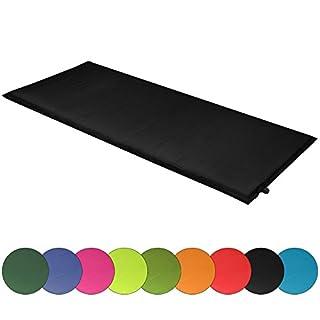 ALPIDEX Isomatte Selfinflating Matte Selbstaufblasende Outdoor Thermomatte in Verschiedene Größen und Farben, Farbe:Black, Maße:200 x 66 x 10 cm