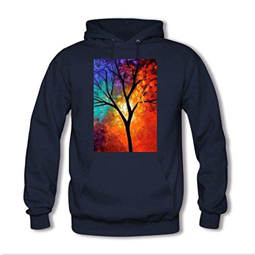weileDIY Tree Art DIY Custom Classic Women Hoodie Sweatshirt Navy_A