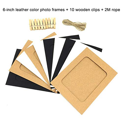 Po Albums - Fishnet Photo Wall Leather Mixed Color Hanging Paper Frame Dorm Bedroom - Women 500 Mini Love Wall Tape Frame Scrapbook Leather Photo Scrapbook Frame Photo Womens Mixed Metal