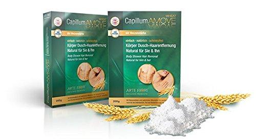 500g Capillum AMOVE WHEAT Natur Körper Dusch Haarentfernung, Dermatest sehr gut - Kostenlose Lieferung innerhalb Deutschlands ab EUR 28,91-!