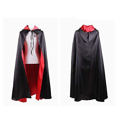 BLTX Umhang Mit Kapuze Halloween Umhang Halloween Kleider Cape Cloak Erwachsenen Unisex Death Vampire Sorcerer Maskerade Performance Kostüm Halloween Robe Cosplay Kostüm (Cape Für Erwachsenen Theater Kostüm)