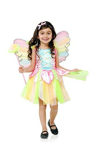 Charades Kostüme Rainbow Prinzessin Fairy Kind Kostüm Kleine–6–8
