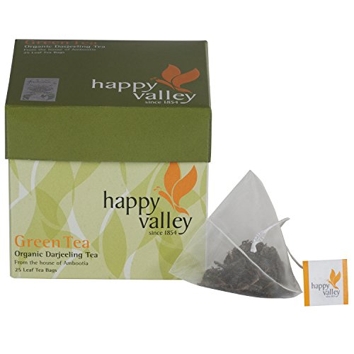 Happy Valley Organic Darjeeling Green Tea (Whole Leaf Tea) - 25 Pyramid...