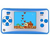 Kids Retro Electronic game consoles Portable Handheld FC Gaming Player with Built in 168 Classic Old Style Video Games Unique Birthday for Children Upgraded Version (Classic Blue)