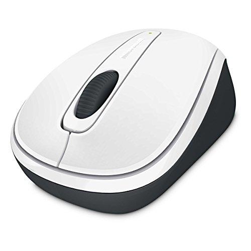 Microsoft Wireless Mobile Mouse 3500 (Maus, weiß, kabellos, für Rechts- und Linkshänder geeignet) - Microsoft Wireless Mouse Schwarz