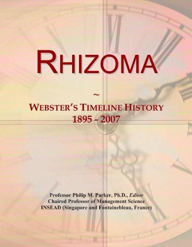 Rhizoma: Webster's Timeline History, 1895-2007