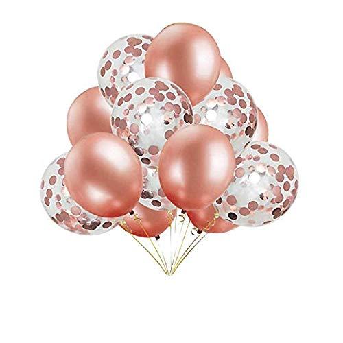 allons Premium Latex Ballons Bunte Luftballon Latex Ballons PailletteTransparent 16 Stück Latexballons Helium Ballons für Hochzeit Geburtstag Luftballon Party Deko ()