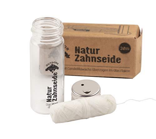 Zahnseide aus Naturseide - plastikfrei im Glas verpackt - biologisch abbaubar - der Natur zuliebe - Minzgeschmack