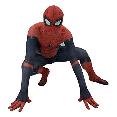 Spiderman Expedition Kostüm Halloween Cosplay Kostüm Party Requisiten Overall 3D Druck Spandex Body Kostüm,Child-M