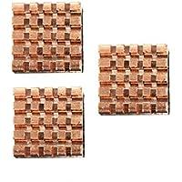 MYAMIA 3 Piezas De Puros Cobre Disipador De Calor De Refrigeración Kit De Aleta para Frambuesa Pi