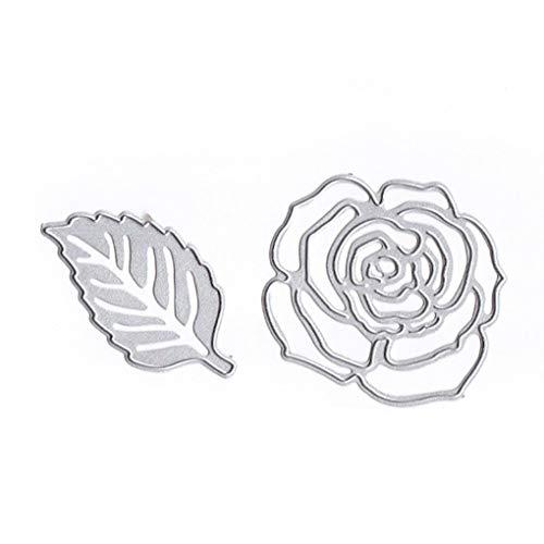 Gankmachine Forma Fiore Fustelle in Acciaio al Carbonio Rose goffratura Stencil Metallo Muffa DIY dell'album Photo Album Crafts