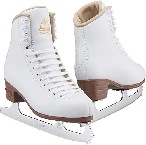 Jackson JS1790 Artiste Damen Schlittschuhe Weiß für Anfänger, Damen, weiß, Width: B/Size: Adult 4