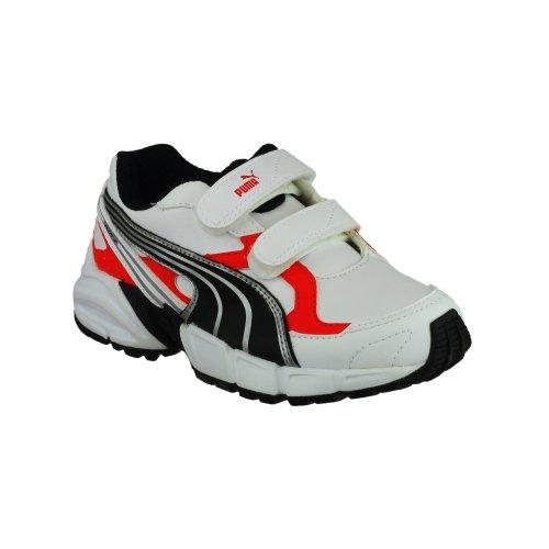 Puma Jungen Schuhe / Turnschuhe / Sneakers Axis Weiß/Schwarz/Rot
