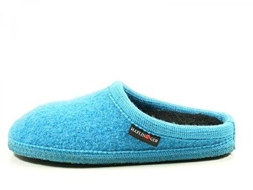 Haflinger 611086 Walktoffel Uni Pantoufles Unisexes Adulte Blau