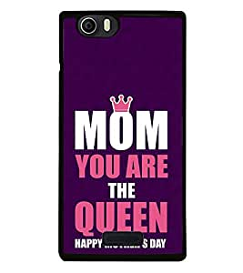 FUSON Mom You'Re The Queen Designer Back Case Cover for Micromax Canvas Nitro 2 E311