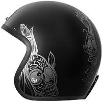 Origine - Primo Looser - Casco de moto jet Cafè Racer L negro opaco
