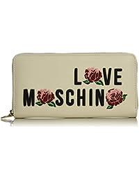 Love Moschino - Portafogli Calf Pu Avorio, Carteras de mano Mujer, Weiß (Ivory), 10x21x3 cm (W x H D)