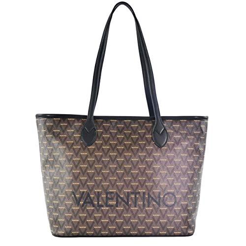 Mario Valentino Valentino by Damen LIUTO TOTE, Braun (Nero Multicolor), 15x29x39 cm