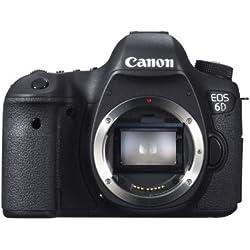 Canon EOS 6D Body Fotocamera Reflex Digitale, 20.2 Megapixel, Versione Standard, Nero