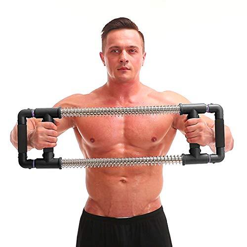 GoFitness Super Push Down Bar, perfektes Oberkörpertraining, komplettes Oberkörpertraining, Trainieren Brust, Arme, Schultern, Rücken, Bauchmuskeln, schwarz, 110LBS (Professional)