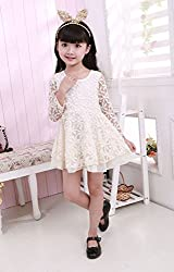 Baby Girls Princess Sundress Half Sleeve Lace Skirt Kids Summer One-piece dress from Angel's Wings