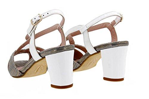 Scarpe donna comfort pelle PieSanto 1256 Sandali Tacco larghezza speciale Gris