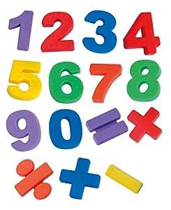 Miniland 97923 - Caja de 68 números y símbolos magnéticos Importado de Alemania