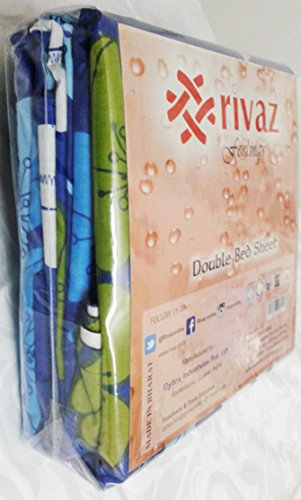 rivaz DOUBLE BEDSHEET with pillow covers (COTTON) King 200 TC - Feelings Cream Traditional 1517
