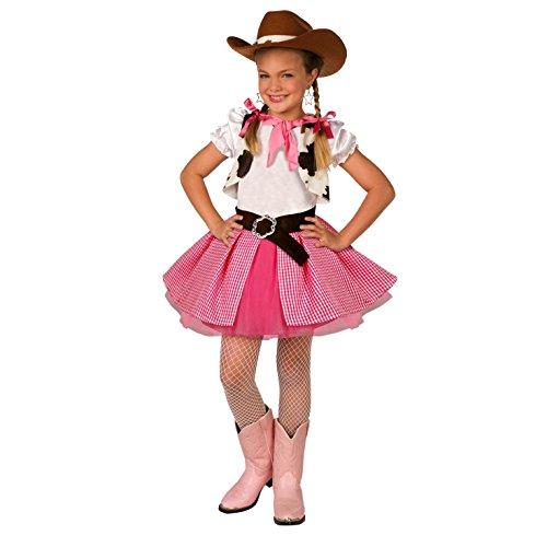 (Unbekannt Kinder Cowgirl Kostüm Mädchen Rosa Western Rodeo verkleiden für Kinder - Groß (9-11 Jahre))